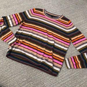 J. Crew long sleeve sweater multi color stripe